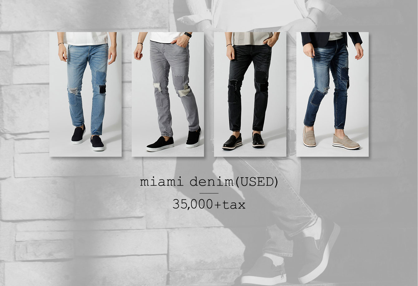 miami denim(USED) 35,000+tax